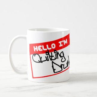 こんにちは私はあります…. 飲まれるキルトにすること コーヒーマグカップ