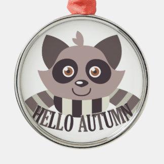 こんにちは秋 メタルオーナメント