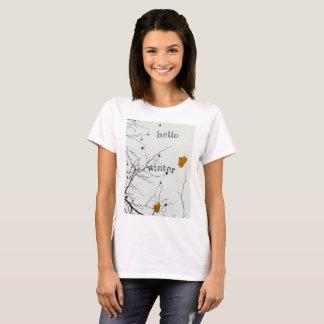 こんにちは素朴な冬 Tシャツ