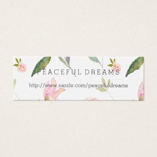 こんにちは美しい水彩画の花柄 スキニー名刺
