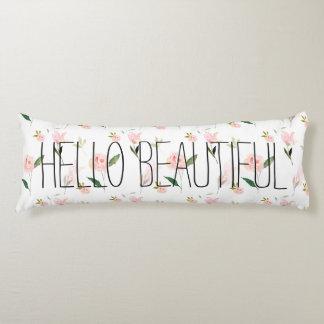 こんにちは美しい水彩画の花柄 ボディピロー
