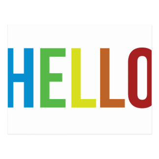 こんにちは虹 ポストカード