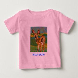 こんにちは親愛なシカのティー ベビーTシャツ