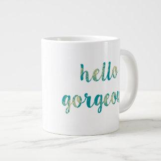 こんにちは豪華で抽象的なジャンボコーヒー・マグ ジャンボコーヒーマグカップ