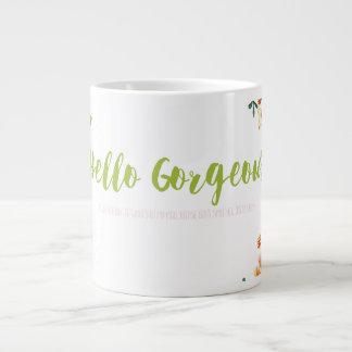 こんにちは豪華 ジャンボコーヒーマグカップ