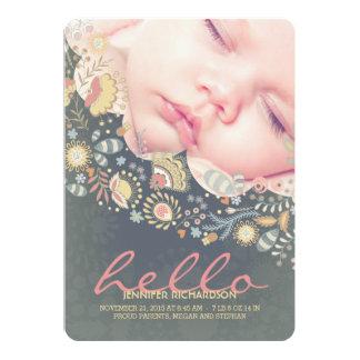 こんにちは赤ん坊のかわいい誕生の発表 カード