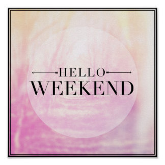 こんにちは週末 ポスター