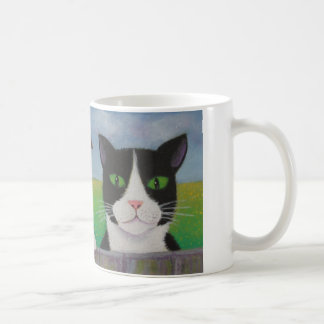 こんにちは隣のタキシードCATのマグ コーヒーマグカップ