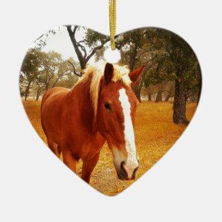 こんにちは馬 セラミックオーナメント