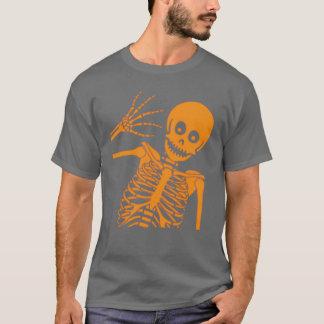 こんにちは骨組! 暗いティー Tシャツ