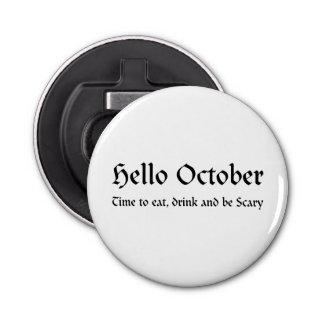 こんにちは10月-恐いが食べ、飲み、ある時間 栓抜き