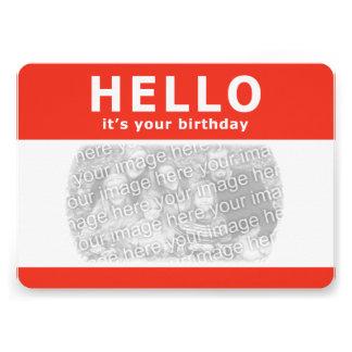 こんにちは、それはあなたの誕生日です! 名札 カード