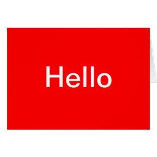 こんにちは カード