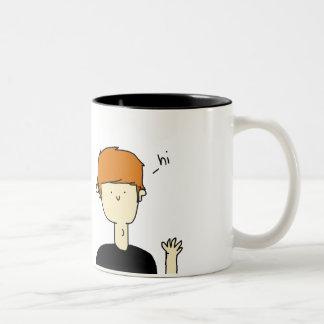 こんにちは ツートーンマグカップ