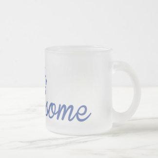 こんにちは、ハンサムな曇らされたマグ フロストグラスマグカップ