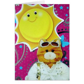 こんにちは、ファンシーな猫! カード