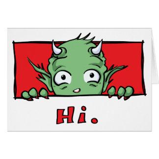"""""""こんにちは""""。 モンスター-空白のな挨拶状 カード"""