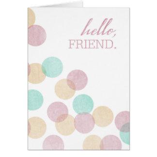こんにちは、友人の空白のな挨拶状 カード