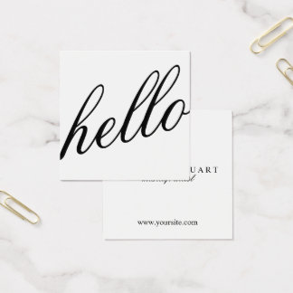 こんにちは|専門のモダンでエレガントなBlack&White スクエア名刺