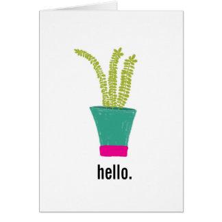 こんにちは、植物 カード