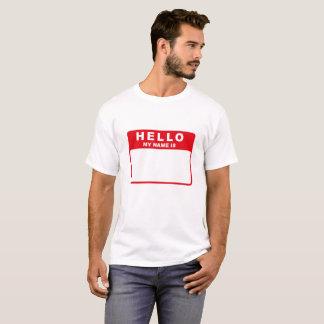 こんにちは、私の名前はあります(赤) Tシャツ