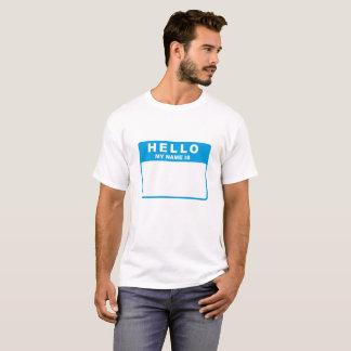 こんにちは、私の名前はあります(青) Tシャツ