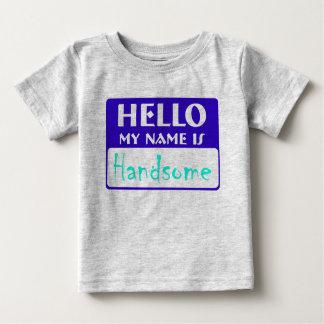 こんにちは、私の名前はハンサムです ベビーTシャツ