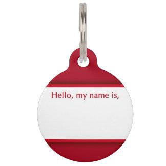 こんにちは、私の名前はペット用名札です ペット用名札