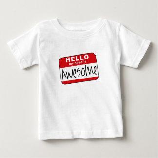 こんにちは、私の名前は素晴らしいです ベビーTシャツ