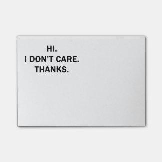 こんにちは。 私は気になりません。 ありがとう ポストイット