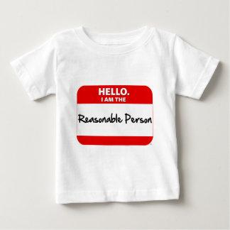 こんにちは。  私は適度な人です ベビーTシャツ