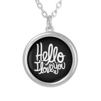 こんにちは、私は銀製のめっきされた吊り下げ式のネックレス愛します シルバープレートネックレス