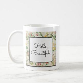 こんにちは、美しい! コーヒーマグカップ