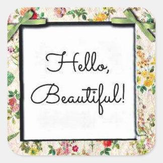 こんにちは、美しい! スクエアシール