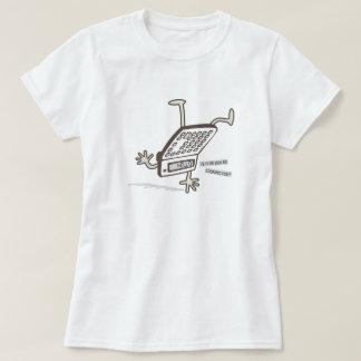 こんにちは(逆さまの計算機のトリック)おもしろいなレトロ Tシャツ