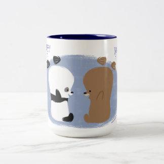 こんにちは! 2頭のくまのマグ ツートーンマグカップ