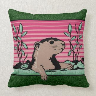 こんにちは、Groundhogの影- クッション