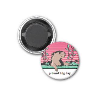 こんにちは、Groundhogの影- マグネット