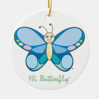 こんにちはButterfly®のオーナメント セラミックオーナメント