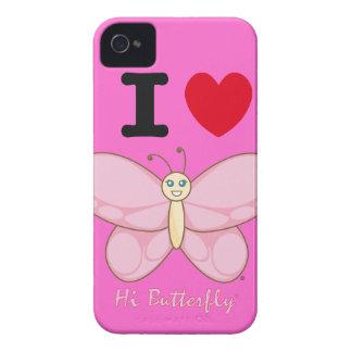 こんにちはButterfly®のブラックベリーのはっきりしたな穹窖 Case-Mate iPhone 4 ケース
