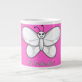 こんにちはButterfly®のマグ ジャンボコーヒーマグカップ