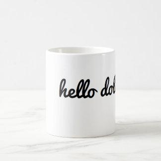 こんにちはdollface コーヒーマグカップ