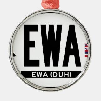 こんにちはEWAステッカー メタルオーナメント