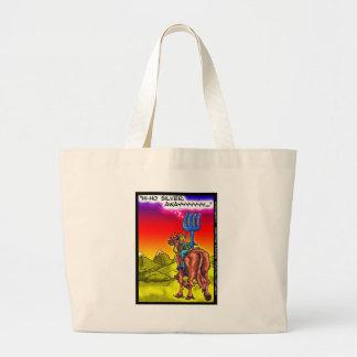 こんにちはHo銀か。 おもしろいの単独レーンジャーのパロディの漫画のギフト ラージトートバッグ