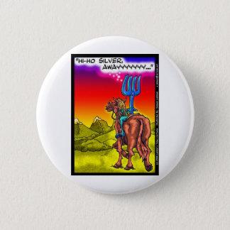 こんにちはHo銀か。 おもしろいの単独レーンジャーのパロディの漫画のギフト 5.7cm 丸型バッジ