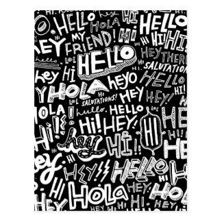 こんにちはHola Bonjour ポストカード