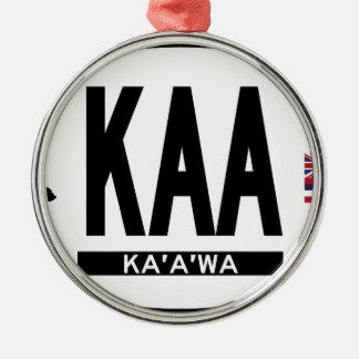 こんにちはKaaawaステッカー メタルオーナメント