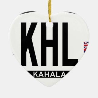 こんにちはKAHALAステッカー セラミックオーナメント
