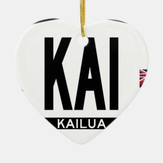 こんにちはKAILUAステッカー セラミックオーナメント