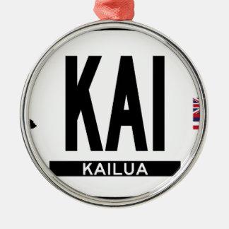 こんにちはKAILUAステッカー メタルオーナメント